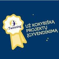 """Džiaugiamės suteiktu Nacionaliniu kokybės ženkleliu ( NKŽ) """"Etwining"""" projekte."""